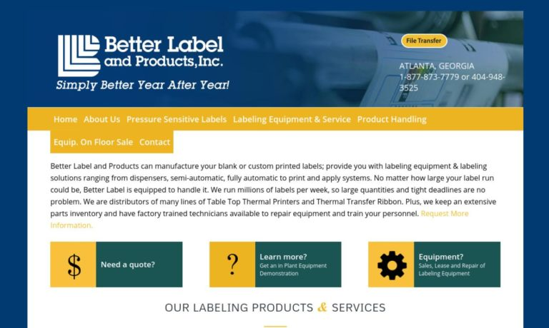 Better Label & Products, Inc.